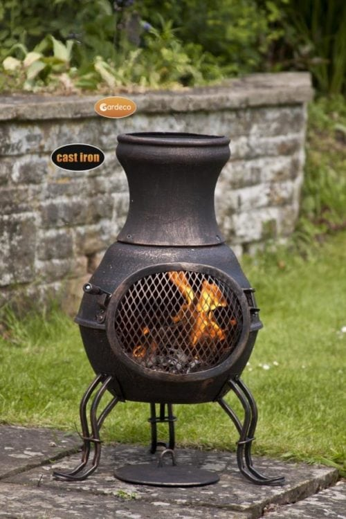 Billie Small Cast Iron Chimenea CASTCHI8