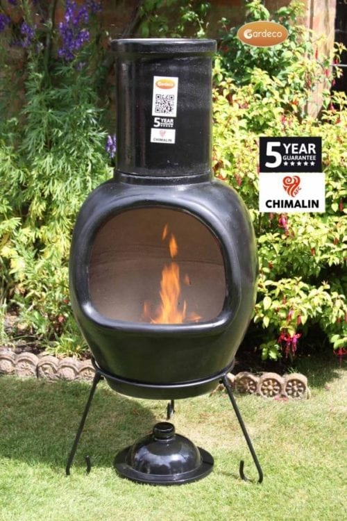 AFC-C51.75Asteria Chimalin AFC Extra-Large Chimenea in Glazed Black